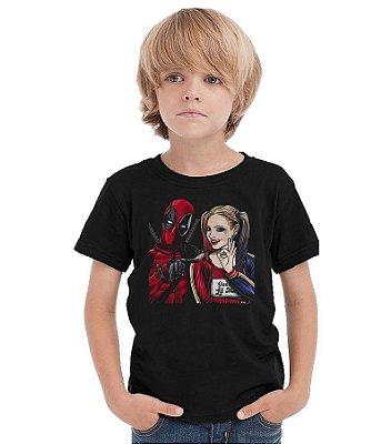 Camiseta Infantil Deadpool e Arquelina