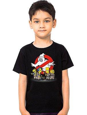 Camiseta Infantil Simpsons Caças Fantasmas