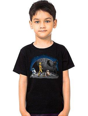 Camiseta Infantil  Star Wars - R2-D2 e BB-8