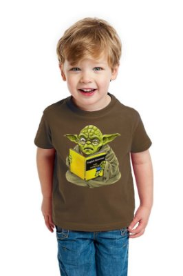 Camiseta Infantil Star Wars Yoda Man Book