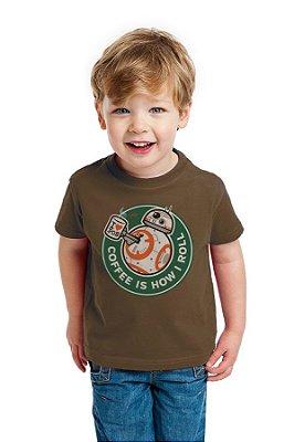 Camiseta Infantil BB-8 - Coffee