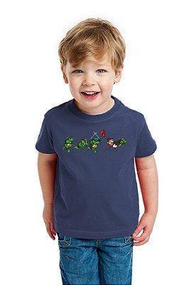 Camiseta Infantil TMNT Super Mario Bros
