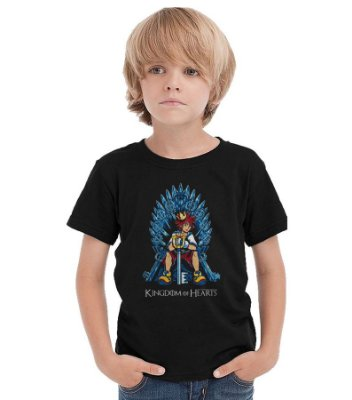Camiseta Infantil Kingdom Hearts