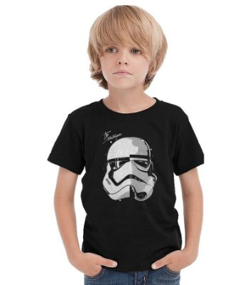 Camiseta Infantil Star Wars: Stormtrooper Face