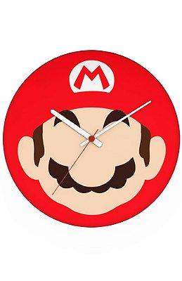 Relógio de Parede Mario Bros Face