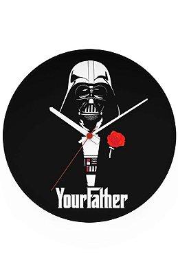 Relógio de Parede Star Wars Your Father