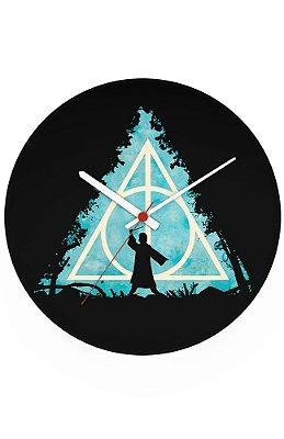 Relógio de Parede Harry Potter Reliquias da Morte
