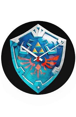 Relógio de Parede Legend of Zelda Escudo