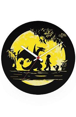 Relógio de Parede Pokemon - Ash e Pikachu
