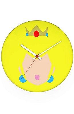 Relógio de Parede Princesa Peach