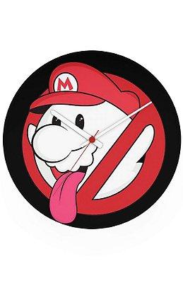 Relógio de Parede Caça-Fantasmas Mario