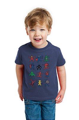 Camiseta Infantil Super Heróis - Homem Aranha