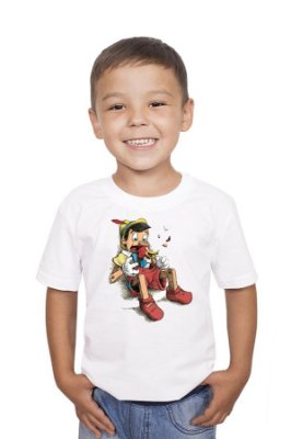 Camiseta Infantil Pinocchio and Woody Woodpecker