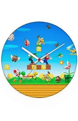 Relógio de Parede Super Mario Bros e Luigi