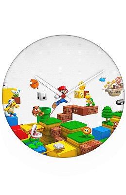 Relógio de Parede Mario Bros