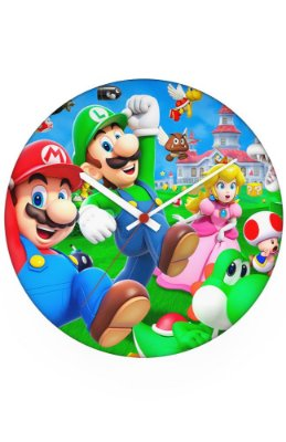 Relógio de Parede Mario Bros e Luigi