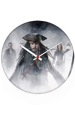 Relógio de Parede Piratas do Caribe