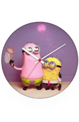Relógio de Parede Bob Esponja e Patrick