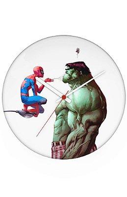 Relógio de Parede Homem Aranha e Hulk