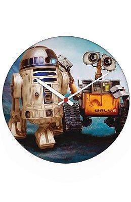 Relógio de Parede R2-D2 e Wall E