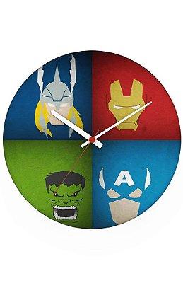 Relógio de Parede Thor e Hulk