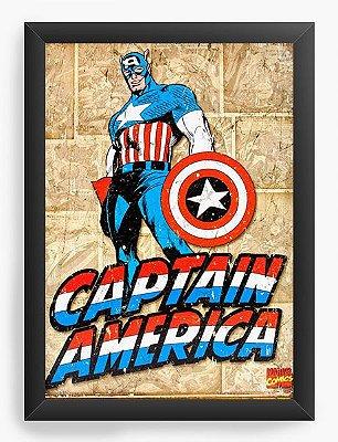 Quadro Decorativo Capitão America - Heroi