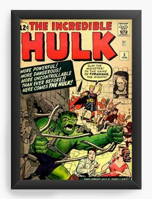 Quadro Decorativo The Incredible Hulk