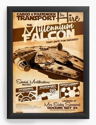 Quadro Decorativo Star Wars - Transport