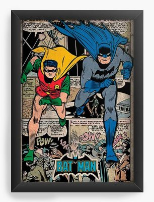Quadro Decorativo Batman e Robin - Bat-Man