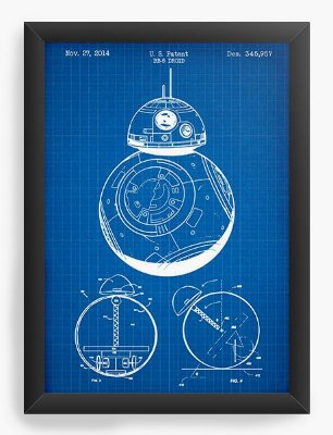 Quadro Decorativo Star Wars - BB-8