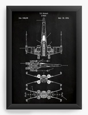 Quadro Decorativo Star Wars - Nave