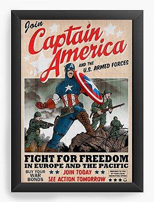Quadro Decorativo Capitão America - Fight for Freedom