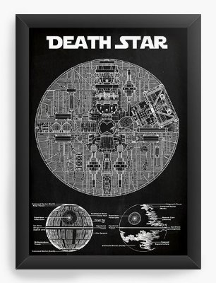 Quadro Decorativo Death Star