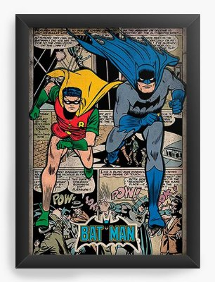 Quadro Decorativo Batman e Robin