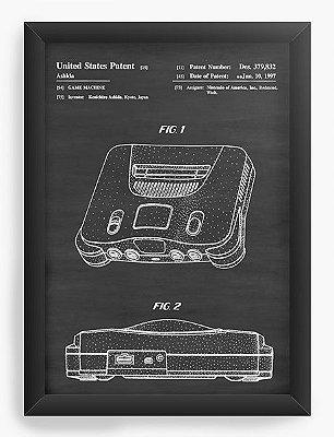 Quadro Decorativo Console Nintendo 64