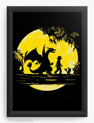 Quadro Decorativo Pokemon - Ash e Pikachu