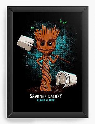 Quadro Decorativo Galaxy Groot