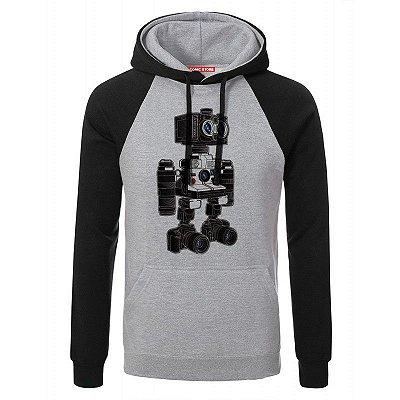 Blusa com Capuz Camera Bot