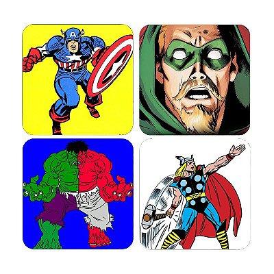 Porta Copos Super Arrow, Capitão America, Thor, Hulk