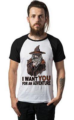 Camiseta Raglan I want you for am adventure