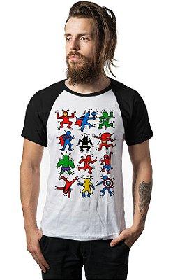 Camiseta Raglan Super Herois