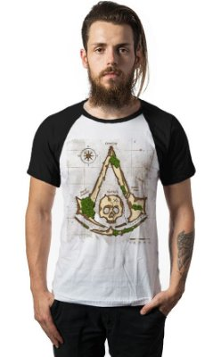 Camiseta Raglan Assassin Creed