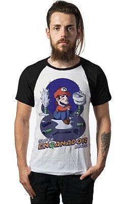 Camiseta Raglan Super Mario Enganador