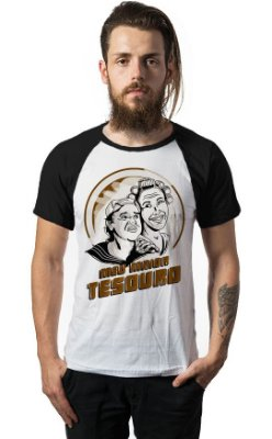 Camiseta Raglan Dona Florinda e Kiko - Meu maior Tesouro