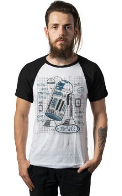 Camiseta Raglan Star Wars R2D2