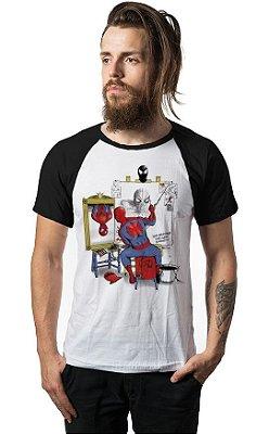 Camiseta Raglan Spiderman Self