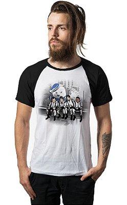 Camiseta Raglan Ghostbusters - Os Caças Fantasmas