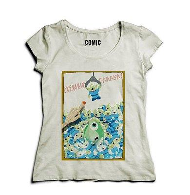 Camiseta Feminina Monstros SA