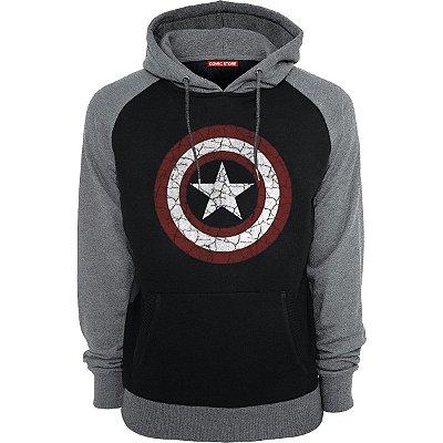 Blusa com Capuz Capitão America Escudo