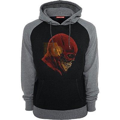 Blusa com Capuz Skull Flash
